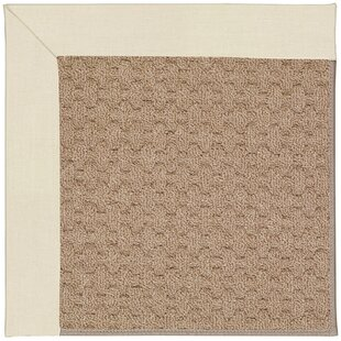 Lisle Machine Tufted Sandy/Brown Indoor/Outdoor Area Rug