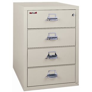 FireKing Fireproof 4-Drawer Card, Check, and Note Vertical File Cabinet