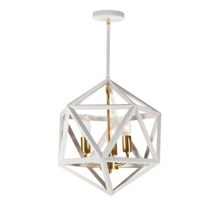 Addison 3-Light Geometric Chandelier by Trule Teen