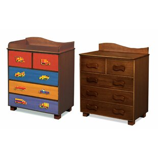 Inexpensive Boys Like Trucks 5-Drawer Chest by Room Magic Reviews (2019) & Buyer's Guide