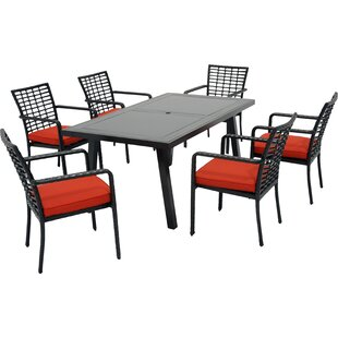 Meadow Decor Melrose 7 Piece Dining Set w..
