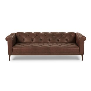 One For Victory Merritt Leather Chesterfield Sofa