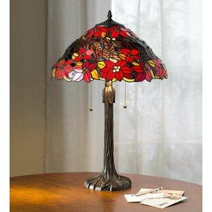 Poinsettia Tiffany 24 Table Lamp