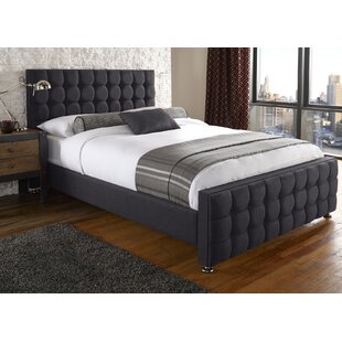 Review Zion Upholstered Bed Frame