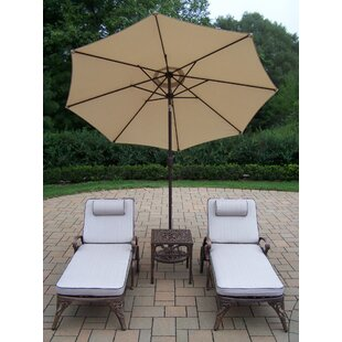 Thelma 4 Piece Metal Chaise Lounge Set with Cushions