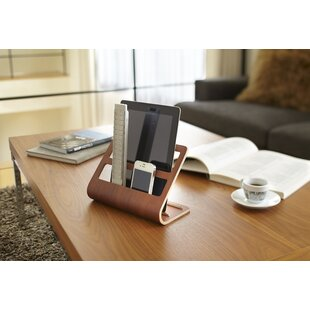 Plywood Tablet And Remote Control Rack Desk Organiser By Yamazaki