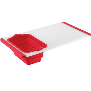 Plastic Poly Built-In Colander Cutting Board