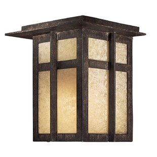 Bloomsbury Market Santa Clara Modern 1-Light Outdoor Flush Mount