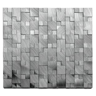 Random Sized Metal Mosaic Tile In Gizmo Brushed Gray