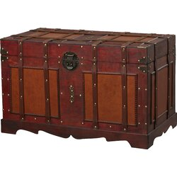 zemrane antique style steamer trunk