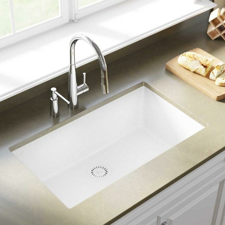 Elkay Quartz Classic 33 Quot X 18 Quot Undermount Kitchen Sink Amp Reviews Wayfair