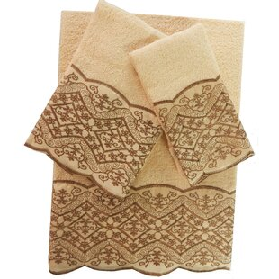 Shultz 3 Piece 100% Cotton Towel Set