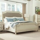 Waverley Carved Upholstered Standard Bed by Beachcrest Home