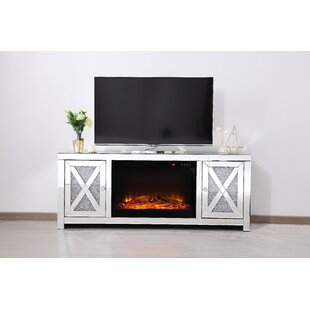 Where buy  Aaron TV Stand for TV up to 50 with Optional Fireplace by Rosdorf Park Reviews (2019) & Buyer's Guide