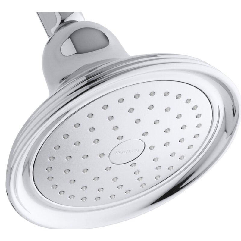 K 10391 Ak 2bz Cp Bn Kohler Devonshire 2 5 Gpm Single Function Wall Mount Shower Head With Katalyst Air Induction Spray Reviews Wayfair