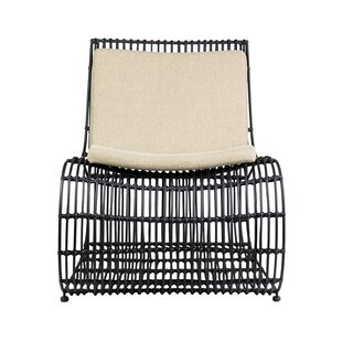 Bungalow Rose Clavier Rattan Occasional Lounge Chair
