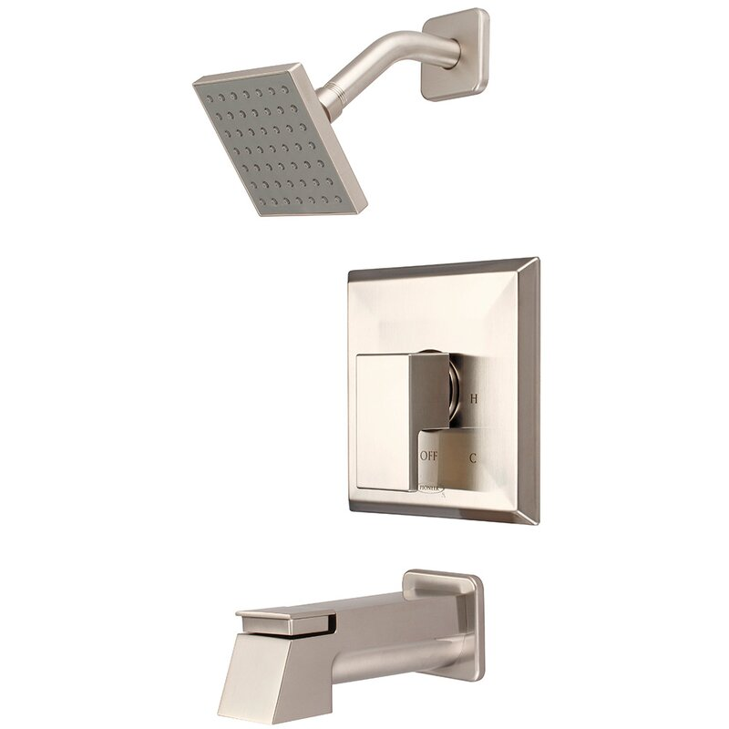 Pioneer Mod Single Handle Diverter Tub and Shower Faucet with Trim ...