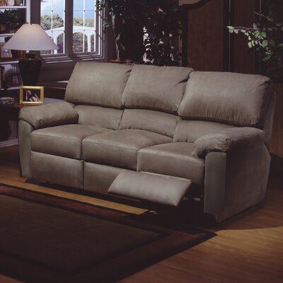 Vercelli Leather Reclining Sofa Omnia Leather Upholstery: Eugene - Beige