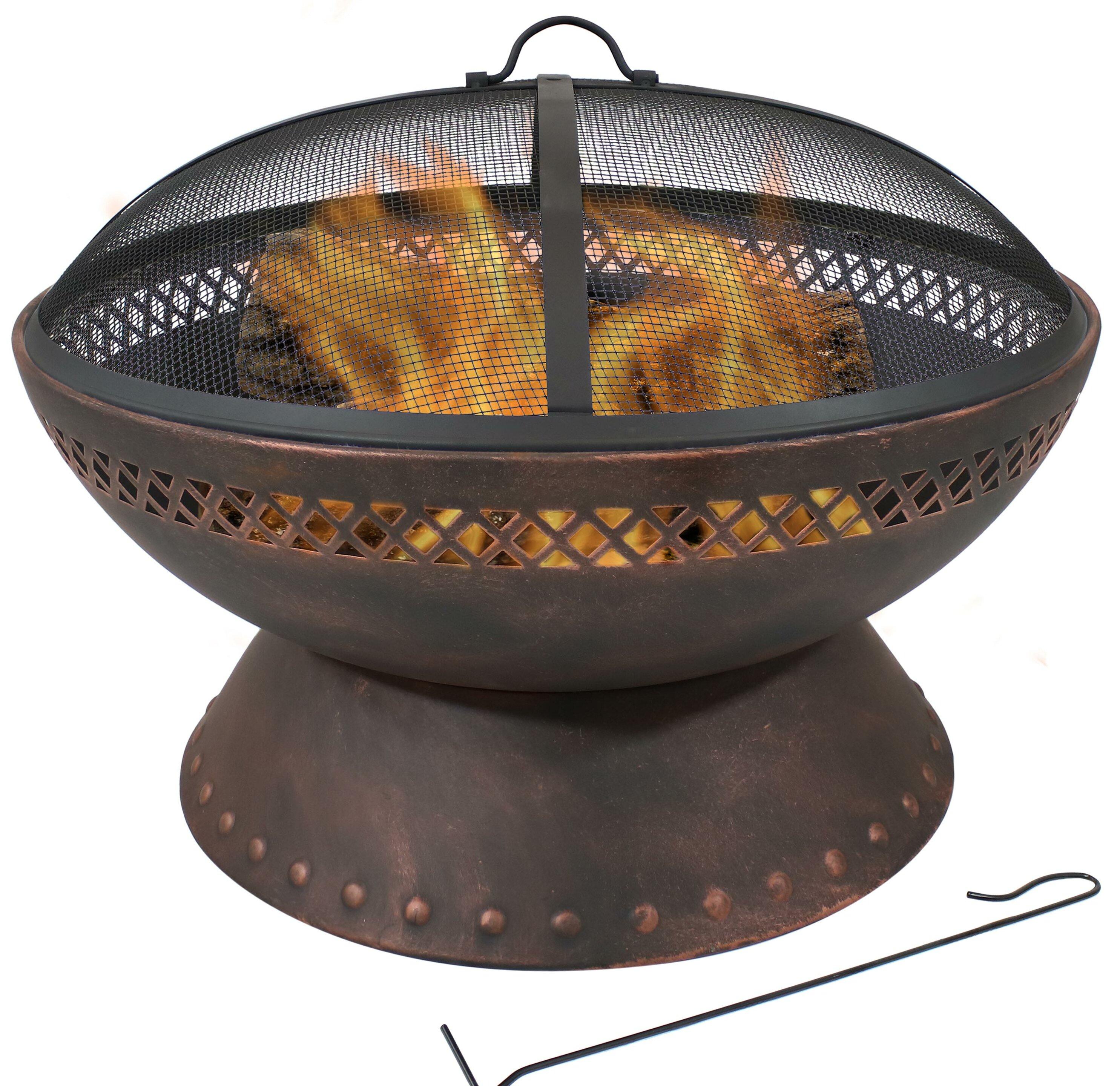 Breakwater Bay Yuvaan Steel Wood Burning Fire Pit Reviews Wayfair Ca