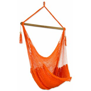 Novica Tropical Tangerine Cotton Chair Hammock