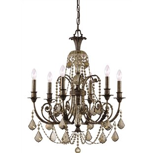 Reviews Suniga 6 Light Crystal Candle Chandelier By Astoria Grand