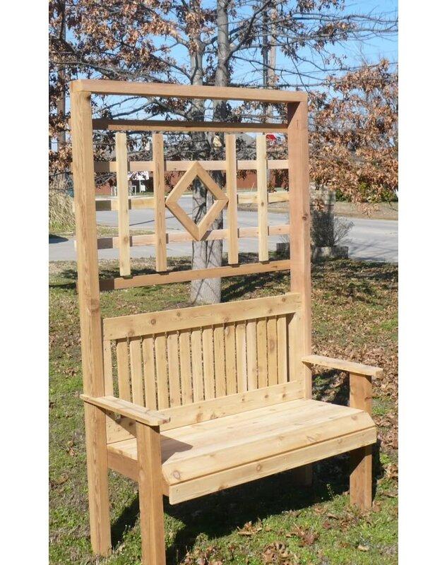 Colby Cedar Trellis Arbor Garden Bench