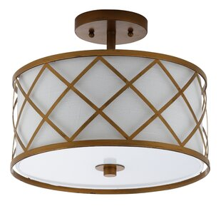 Wachter 2-Light Semi Flush Mount by House of Hampton