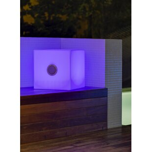 Wabansia White Battery Powered LED Floor Lamp By Sol 72 Outdoor