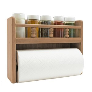 Paper Towel Rack with Spice Rack