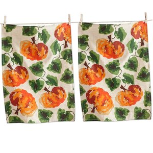 Fall Pumpkin Towel (Set of 2)