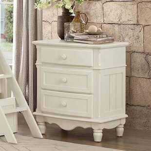 August Grove Mickelson Wood 3 Drawer Nigh..
