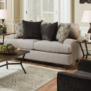 Shop Simmons Upholstery Hattiesburg Sterling Loveseat by Three Posts