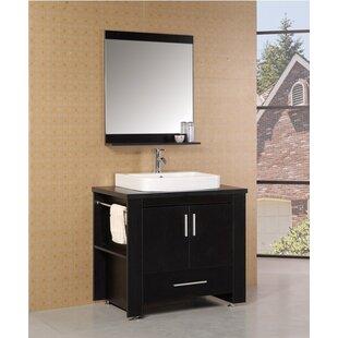 Blaser 36 Single Modern Bathroom Vanity Set with Mirror by Wade Logan