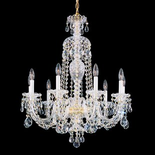 Sterling 9-Light Chandelier by Schonbek