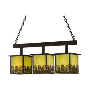 Meyda Tiffany Mountain Pine 3-Light Kitch..