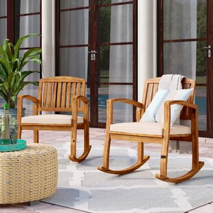 Coyne Acacia Rocking Chair (Set of 2) by Beachcrest Home