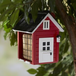 Home Bazaar Nesting Series Barn Bird Feeder