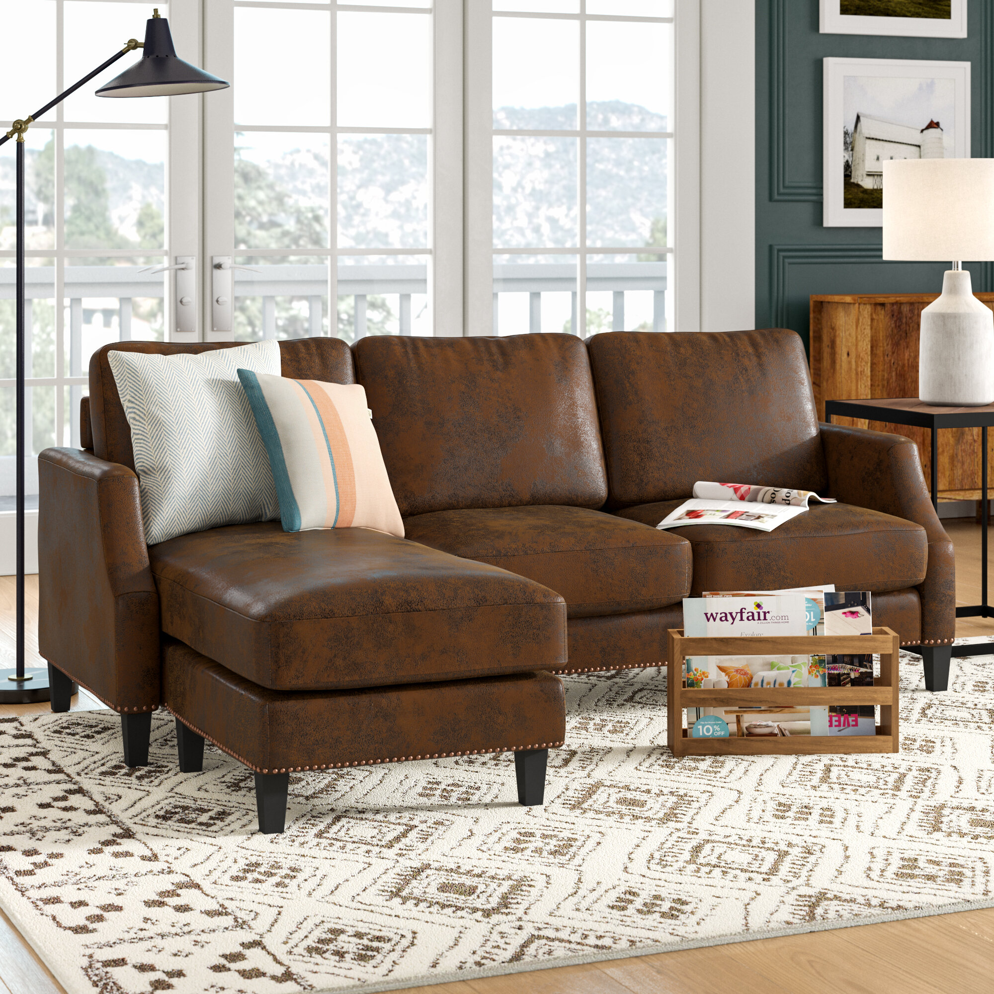 "Laurel Foundry Modern Farmhouse Edenburg 8"" Wide Reversible Sofa"