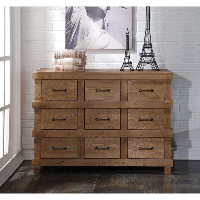 Harriet Bee Rech 9 Drawer Double Dresser Wayfair