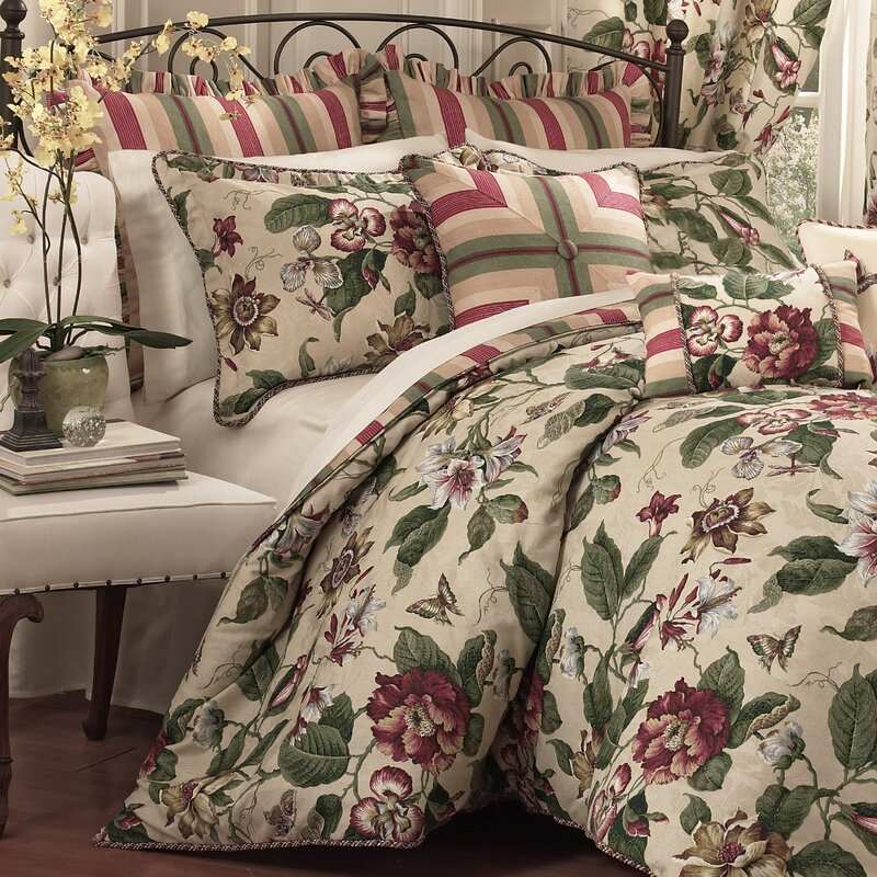 laurel springs 4 piece reversible comforter set