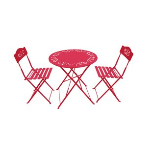 3 Piece Metal Bistro Set