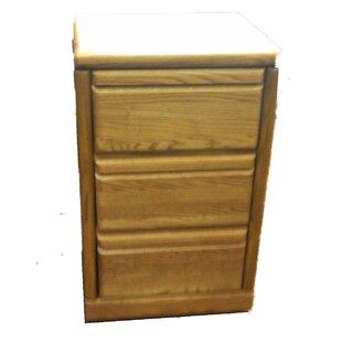 Loon Peak Hudgins 3-Drawer File Cabinet
