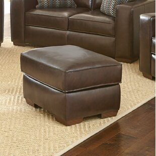 Tennison Leather Ottoman by Brayden Studio