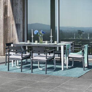 Ilsa Patio 7 Piece Dining Set with Cushions