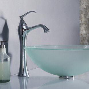 Kraus Exquisite Single Hole Bathroom Faucet with Optional Pop Up Drain