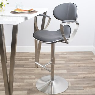 Blythdale Adjustable Height Swivel Bar Stool Orren Ellis