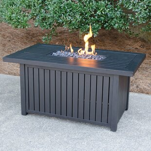 Outdoor Aluminum Propane Gas Fire Pit Table