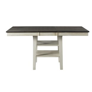 Scales Counter Height Extendable Solid Wood Dining Table by Gracie Oaks