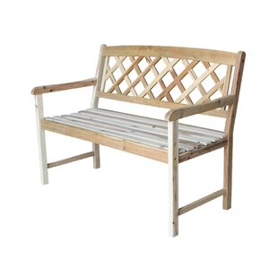 Jeffcoat Wood Garden Bench by Charlton Home