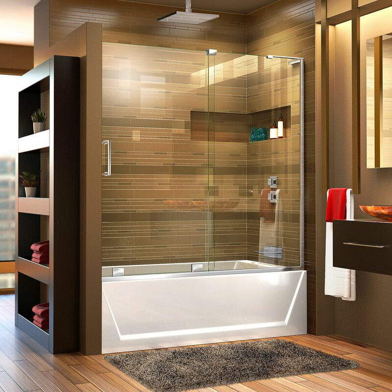 DreamLine Mirage Frameless Single Sliding Tub Door